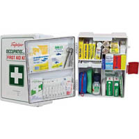 TRAFALGAR NATIONAL WORKPLACE FIRST AID KIT WALL MOUNT ABS