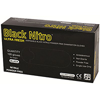 BLACK NITRO NITRILE POWDER-FREE GLOVES SMALL BOX 100