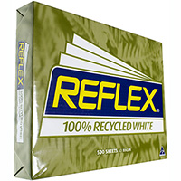 REFLEX A3 CARBON NEUTRAL 100% RECYCLED COPY PAPER 80GSM WHITE PACK 500 SHEETS
