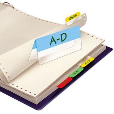 Image for 3L INDEX TABS TWIN 40MM WHITE PACK 24 from Axsel Office National