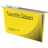 CRYSTALFILE SUSPENSION FILES FOOLSCAP YELLOW BOX 10