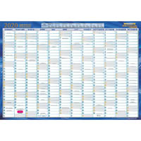 WRITERAZE QC2 2020 EXECUTIVE YEAR PLANNER LAMINATED FRAMED 500 X 700MM