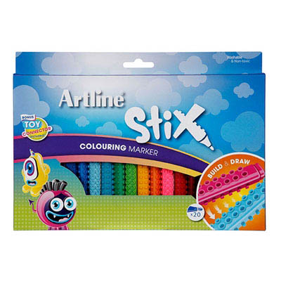 Image for ARTLINE STIX COLOURING MARKER ASSORTED PACK 20 from Axsel Office National