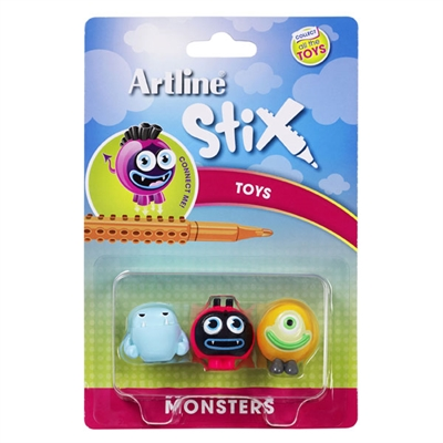 Image for ARTLINE STIX TOYS MONSTERS 1 ASSORTED PACK 3 from Mackay Business Machines (MBM)