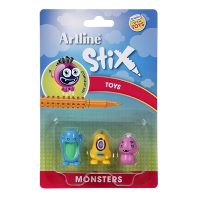 Image for ARTLINE STIX TOYS MONSTERS 2 ASSORTED PACK 3 from Axsel Office National