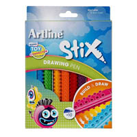 ARTLINE STIX DRAWING PEN ASSORTED PACK 10