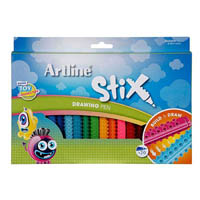 ARTLINE STIX DRAWING PEN ASSORTED PACK 20