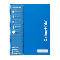 COLOURHIDE MY TRUSTY NOTEBOOK 120 PAGE A4 BLUE