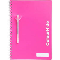 COLOURHIDE MY TRUSTY LECTURE NOTEBOOK 140 PAGE A4 PINK