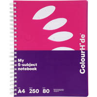 COLOURHIDE MY 5-SUBJECT NOTEBOOK 250 PAGE A4 PINK