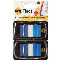 MARBIG FLAGS POP-UP 50 FLAGS 25 X 44MM BLUE PACK 2