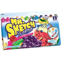 MR SKETCH SCENTED MARKERS ASSORTED PACK 12