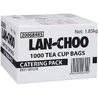 LAN CHOO TEA BAGS STRING AND TAG PACK 1000