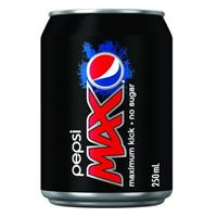 PEPSI MAX CAN 200ML CARTON 24