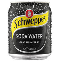 SCHWEPPES SODA WATER CAN 200ML CARTON 24