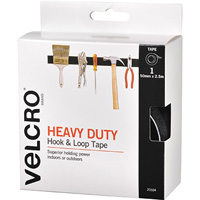 VELCRO BRAND STICK-ON HEAVY DUTY HOOK AND LOOP TAPE 50MM X 2.5M BLACK