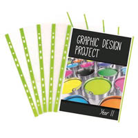 COLOURHIDE TIDY SHEET PROTECTORS A4 GREEN PACK 20