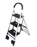 DURUS FOLDING 3 STEP LADDER AND CART