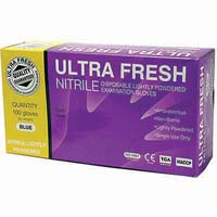 ULTRA FRESH NITRILE POWDER GLOVES EXTRA LARGE BOX 100