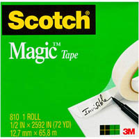SCOTCH 810 MAGIC TAPE 12MM X 66M