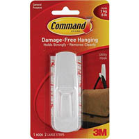 COMMAND LARGE HOOK AND TWO ADHESIVE STRIPS