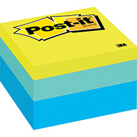 POST-IT 2056-RC MEMO CUBE 76 X 76MM RIBBON CANDY