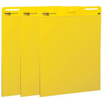 POST-IT 559YW EASEL PAD 635 X 775MM BRIGHT YELLOW PACK 3