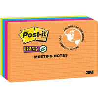 POST-IT 5845-SSUC SUPER STICKY LINED NOTES 123 X 200MM RIO DE JANEIRO PACK 4