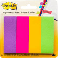 POST-IT 671-4AU PAPER PAGE MARKERS 23 X 73MM ASSORTED PACK 4