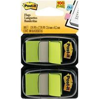 POST-IT 680-BG2 FLAGS BRIGHT GREEN TWIN PACK 100