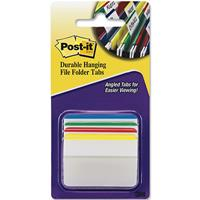 POST-IT 686A-1 DURABLE ANGLED FILING TABS ASSORTED PACK 4