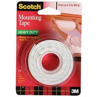 SCOTCH 114 HEAVY DUTY FOAM MOUNTING TAPE 25.4MM X 1.27M