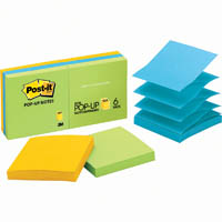 POST-IT R330-AU POP-UP NOTES 76X76MM ASSORTED JAIPUR PACK 6