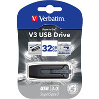 VERBATIM STORE-N-GO V3 FLASH DRIVE 3.0 32GB GREY