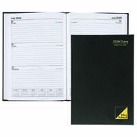 OFFICE NATIONAL 2019 DIARY 2 DAYS TO PAGE 1 HOUR A5 BLACK