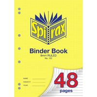 SPIRAX 122 BINDER BOOK 8MM RULED 48 PAGE A4