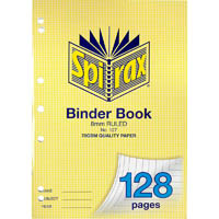 SPIRAX 127 BINDER BOOK 8MM RULED 128 PAGE A4