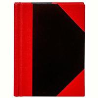 SPIRAX NOTEBOOK CASEBOUND RULED 100 LEAF A5 BLACK/RED