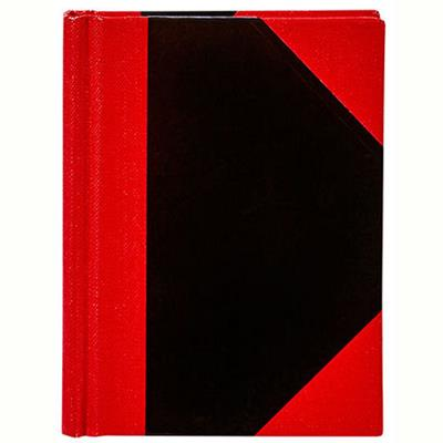 Image for BLACK AND RED NOTEBOOK CASEBOUND RULED 100 LEAF A4 from Axsel Office National