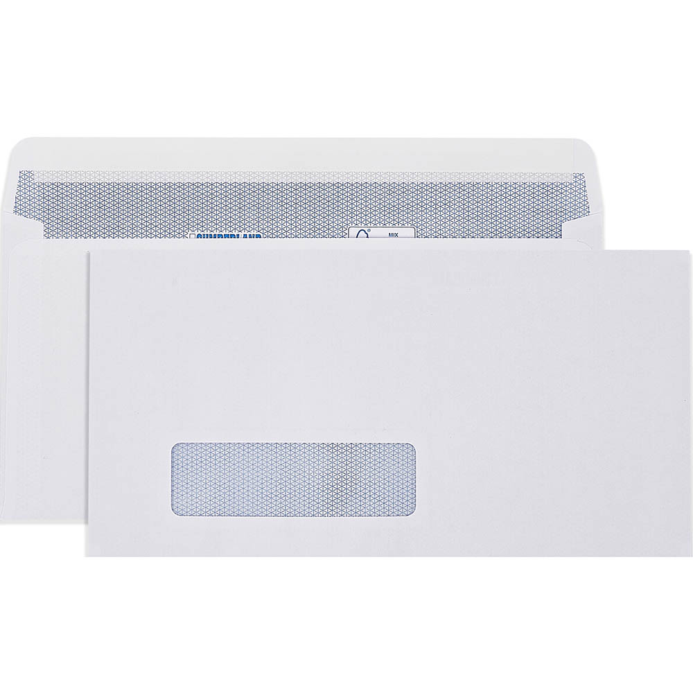Image for CUMBERLAND DLX LASER ENVELOPES SECRETIVE WINDOW WALLET 90GSM STRIP SEAL 20 X 235MM WHITE BOX 500 from Axsel Office National
