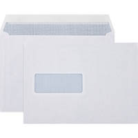CUMBERLAND C5 LASER ENVELOPES SECRETIVE WINDOW POCKET STRIP SEAL 90GSM 162 X 229MM WHITE BOX 500