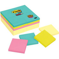 POST-IT 654-24SSCYM SUPER STICKY NOTES 76 X 76MM PACK 24