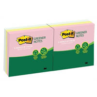 POST-IT R330-RP-6AP RECYCLED POP-UP NOTES 76 X 76MM HELSINKI PACK 6