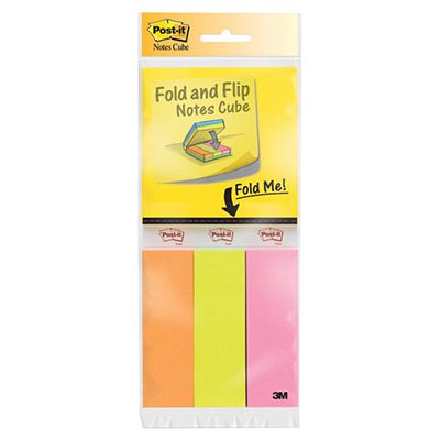 Image for POST-IT 2055-FC1 FOLD AND FLIP NOTES 3 PADS OF NOTES, 3 PADS OF PAGE MARKERS from Axsel Office National