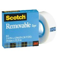 SCOTCH 811 REMOVABLE MAGIC TAPE REFILL 19MM X 65.8M