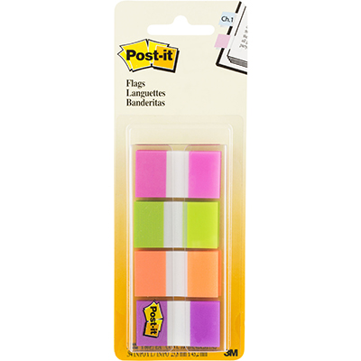 Image for POST-IT 680-PGOP2 FLAGS 25MM ASSORTED PACK 40 from Mackay Business Machines (MBM)