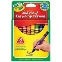 CRAYOLA WASHABLE EASY GRIP CRAYONS PACK 8