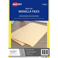 AVERY 88055 MANILLA FOLDER A4 BUFF PACK 50