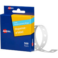 AVERY 934241 REINFORCEMENT RINGS CLEAR VINYL PACK 500