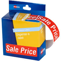 AVERY 937318 MESSAGE LABELS SALE PRICE 64 X 19MM RED PACK 250